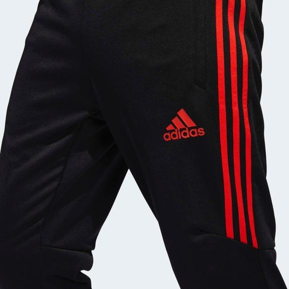 12ad52e8c4b88 Adidas Tiro 17 Red Stripe Training Joggers